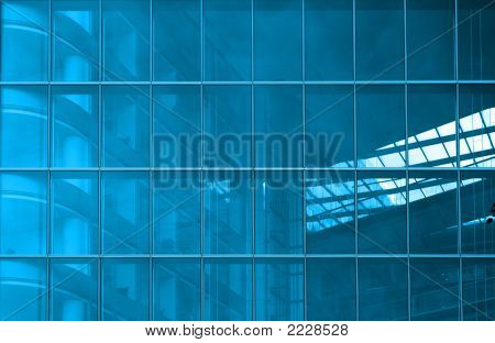 Blue Structural Glazing