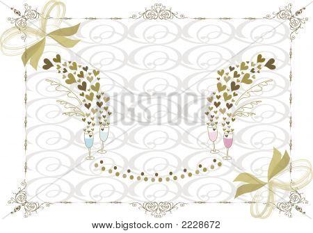 rococo gold wedding frame (vector)