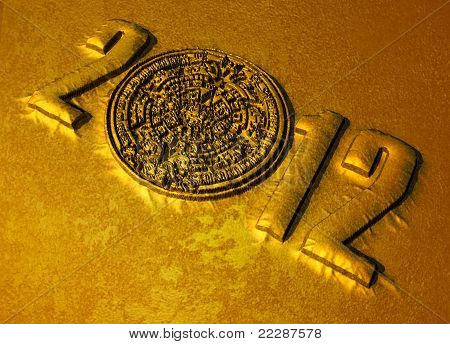 Mayan Calander And 2012 Text