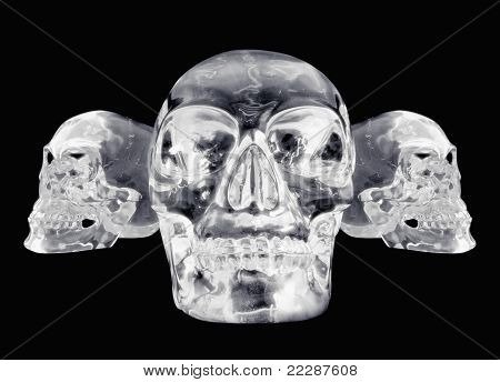 3 Views Of A Crystal Skull