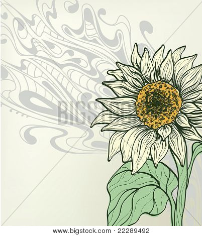 Abstract Background With Sunflower