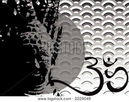 Buddha, Scallop And Ohm (Vector)