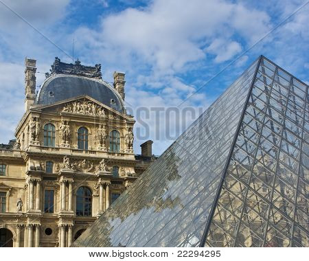 Louvre Museum and Pyramid