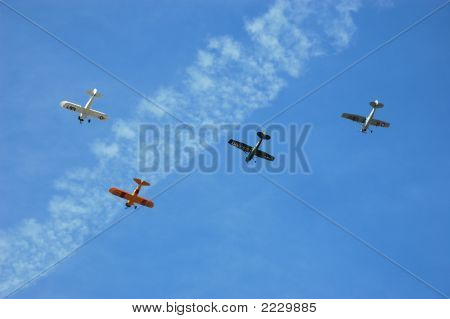 Squadron Of Antique Aircraft