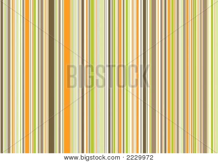 Retro Orange Brown Green Stripes (Vector) - Illustrated Background Pattern