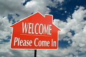Welcome, Please Come In Real Estate Sign