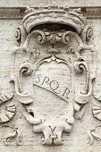 stock photo of spqr  - Rome Italy - JPG