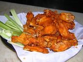 pic of chicken wings  - fresh out of the deep fryer two dozen delicious crispy hot wings and of course we can - JPG