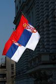 Serbian Flags, Two Republic Of Serbia Flags poster