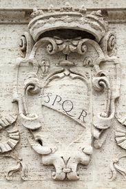 image of spqr  - Rome Italy - JPG