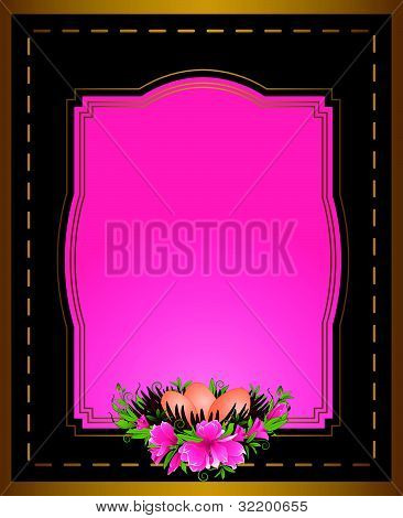 Eggs with lace decorations and flowers with a decorative frame vector
