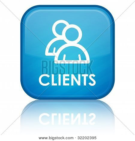 Clients blue button