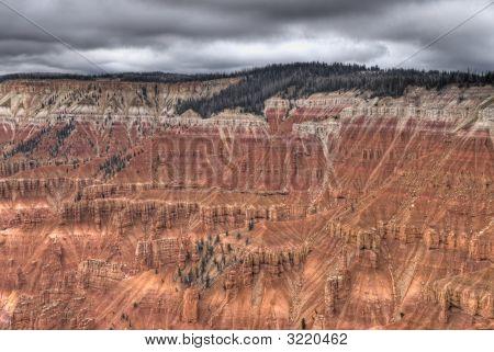 High Dynamic Range (Hdr) Impression Of Cedar Breaks