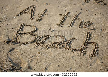 Sand art at the beach