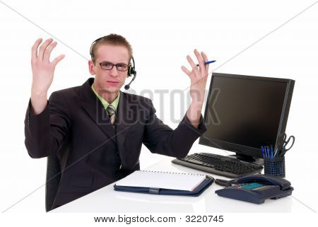 Stressed Businessman Office