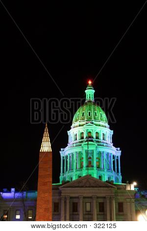 Capital Dome In Lights