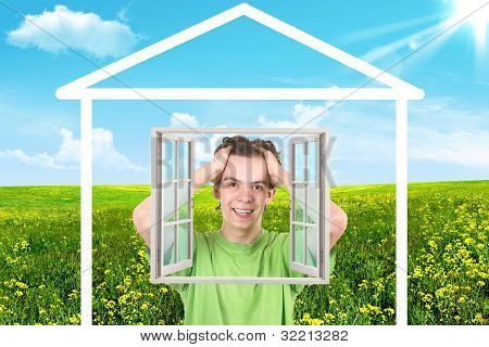 Teenager.the House On A Meadow