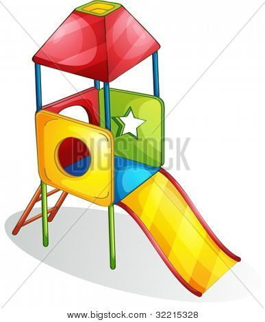 Illustration of a colorful slide
