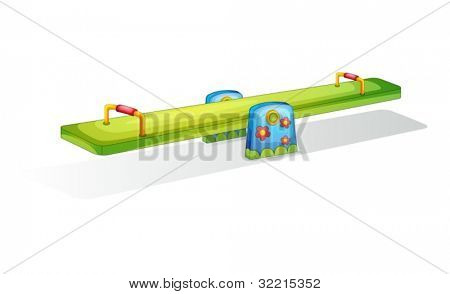 Illustration of a colorful see saw isolated on white