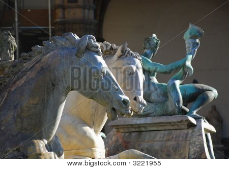 Horses From Neptune Statue, Florence