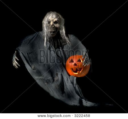Halloween Ghoul With Jackolantern