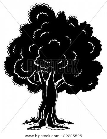 Tree theme image 4 - vector illustration.