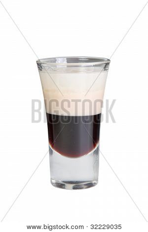 B 52 cocktail isolated