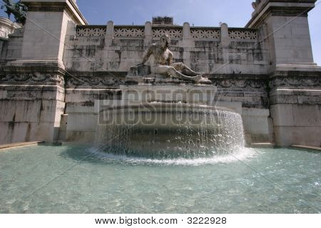 Fountain, Part Of The Victor Emmanuel Monument