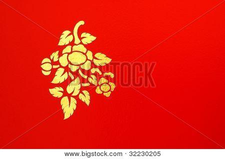 Thai Flower Mural