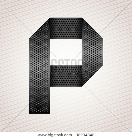 Letter metal ribbon - P