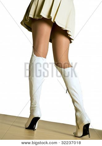woman legs in shoes