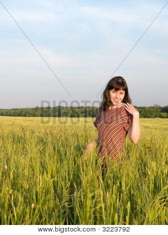 Teen Lady In Field