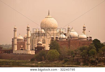 Taj Mahal View Fron Agra Fort