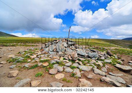 Rock cairn, Altay