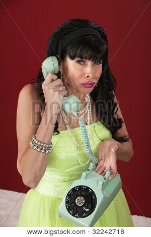 Weeping Woman On Phone