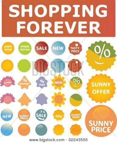 shopping spring & summer vector set