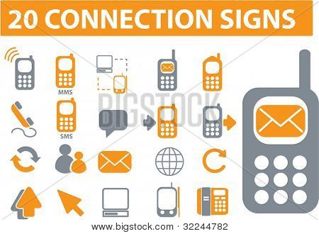 20 connection icons. raster version. visit my portfolio for a vector version.