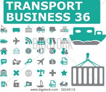 36 transport signs. vector