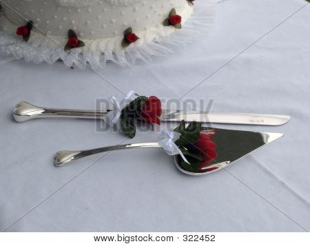 Wedding Cake & Knife Set