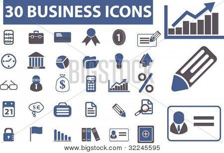 30 premium business icons. vector
