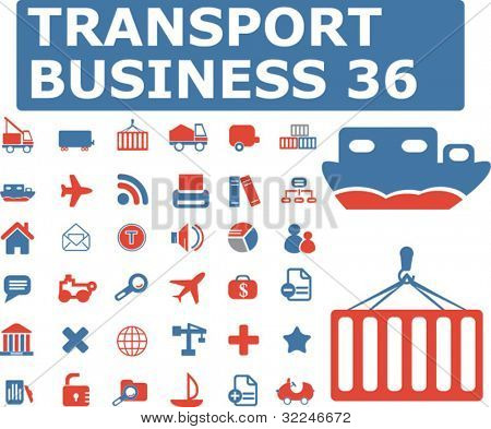 36 transport business icons. vector