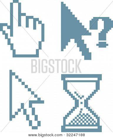 blue cursors. vector