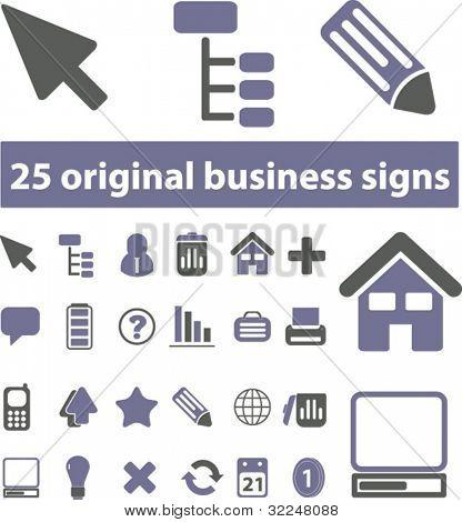 25 original business signs - dark-blue edition. vector