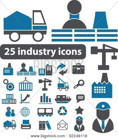25 Industrie-Icons. Vektor
