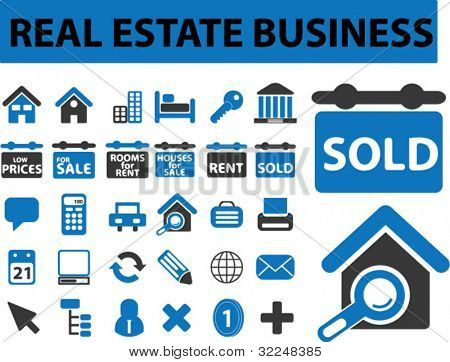 real estate business. vector