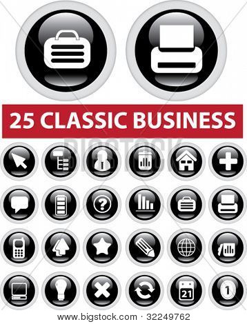 25 classic business. vector