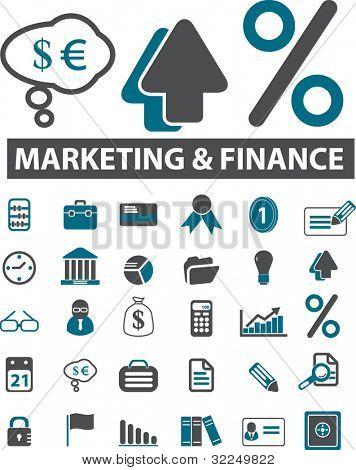 marketing & finance signs. vector