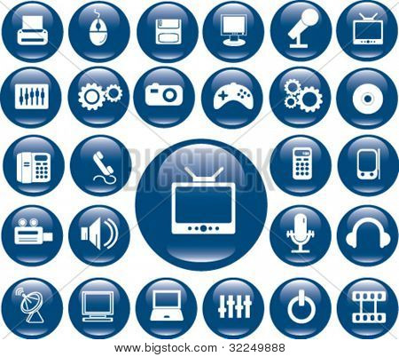 blue buttons. vector