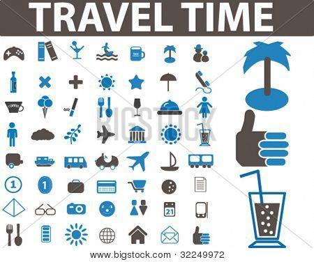signos del tiempo de viaje. Vector