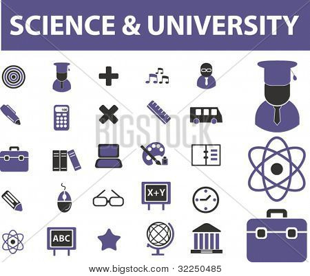 science & university. vector